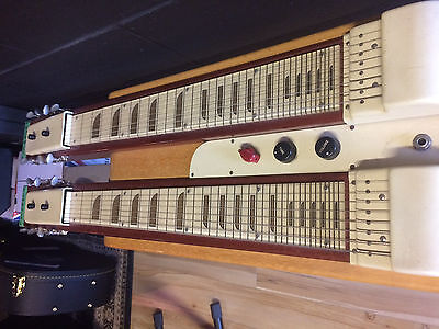 Vintage! National Valco 1950's Twin Console Lap Steel!!  in original case!!