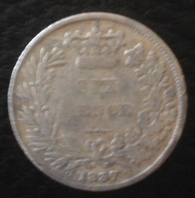 1837 William IV Silver Sixpence - Rare