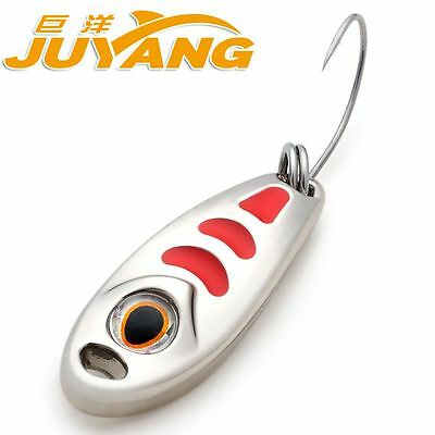 Small Pea Metal Spinner Spoon Fishing Lure Hard Baits 1.5g 3g 5g Gold Silver
