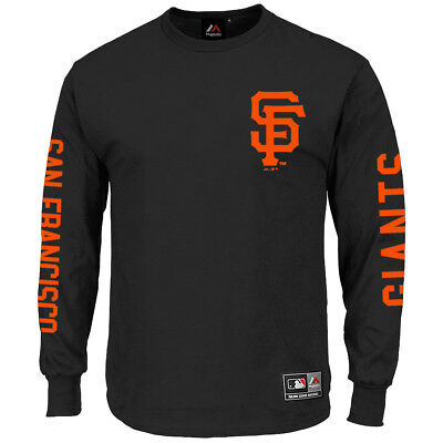 San Francisco Giants Majestic MLB Mavern Long Sleeve T-Shirt - Black