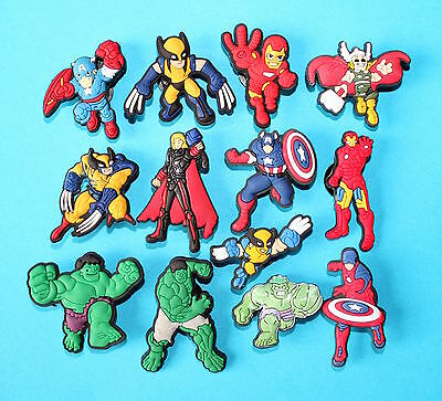 Avengers Shoe Charms Party Favours Cake Decorations Cupcake Justice League NEW