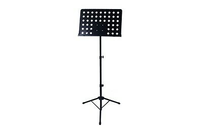 NEW Black Folding Metal Music Stand Lightweight Height Adjustable Large Table
