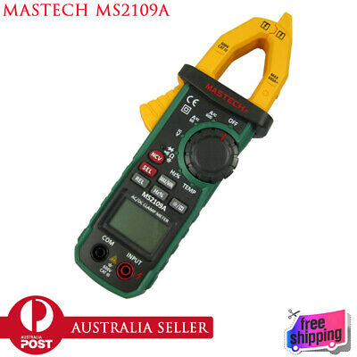 Mastech MS2109A Ac Dc Clamp Meter True Rms Digital Hz Capacitance Tester Temp