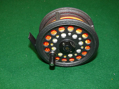 J W Young Reflex Saltwater fly fishing reel & line browns rainbows also
