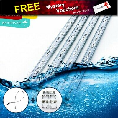 4X 12V Waterproof 5630 Led Strip Cool White Lights Bars Car Boat Camping Caravan