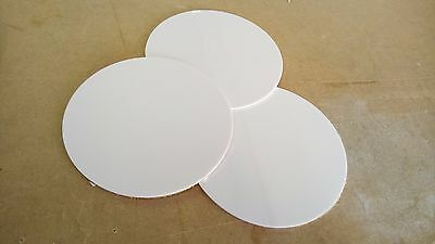 2mm White HIPS Self Adhesive Discs 138mm Diameter Bulk Wholesale