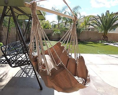 Chair Hanging Rope Hammock Swing Porch Outdoor Patio Seat Tree Cotton Yard