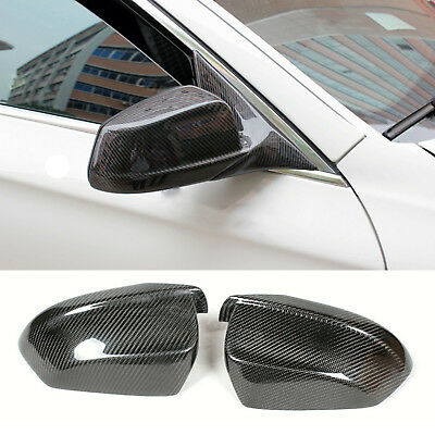 Carbon Fiber Rear View Wing Mirror Covers Caps Fit For BMW F10 Pre-LCI Saloon