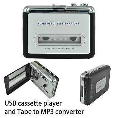 USB Tape to PC Cassette to MP3/PC Converter Captue Adapter Audio Music Player CA