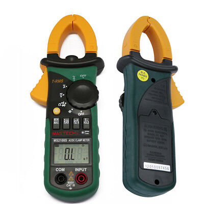 Mastech MS2108S T-RMS DC Clamp Inrush Compared w/ FLUKE Current Digital meter