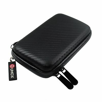 "Twill Black 2.5"" HDD Bag Hardcase for Portable Hard Disk Drive Case Zipper Cover"