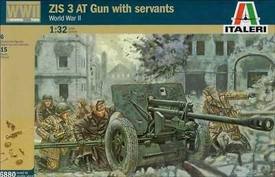 Italeri: 1/32 ZIS 3 AT Gun & Russian Crew - Model Kit