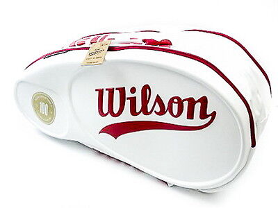 *NEU*WILSON TOUR Molded 100 YEARS Racketbag 9er white red Tennistasche Limited