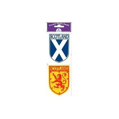 Scottish Car Sticker window Decal Twin Pack Saltire and Lion Rampant interior