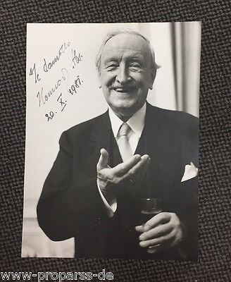 Hermann Josef Abs - Originalautogramm auf Pressefoto signed photo Deutsche Bank