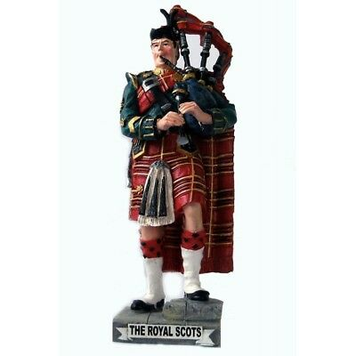 Large Handcrafted 'Royal Scots Piper' Scottish Figurine Sculpture