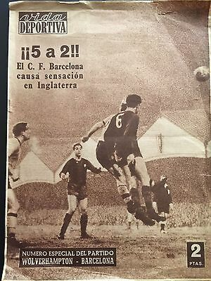 1959-60 European Cup.Quarter-finals.WOLVERHAMPTON-BARCELONA .2nd leg
