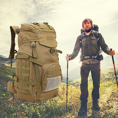 60L Molle 4 Days Assault Tactical Outdoor Military Rucksack Backpack Camping Bag