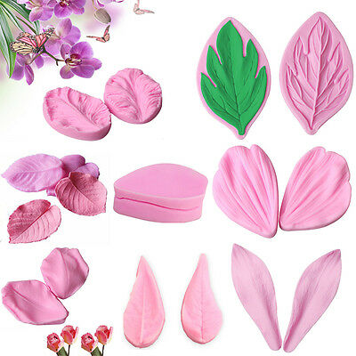 Flower Petal Leaf Silicone Fondant Mold Cake Decor Sugarcraft Baking Mould Tools