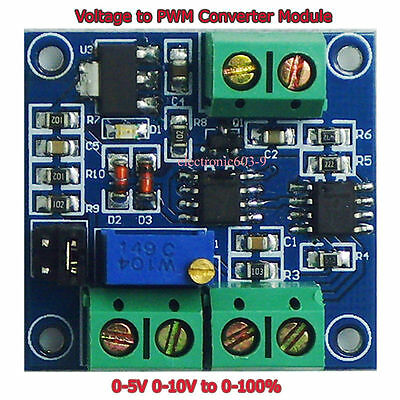 Voltage to PWM Converter Module 0-5V 0-10V to 0-100% High Quality