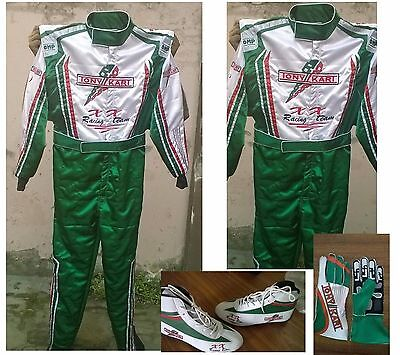 Go Kart Tony Kart Race Suit CIK FIA Level 2 Approved Shoes with free gift Gloves
