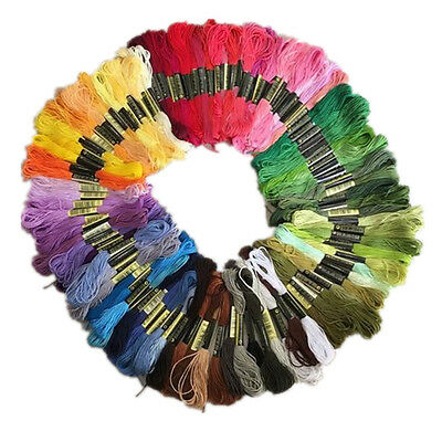 50Pcs/100Pcs Embroidery Cotton Floss Sewing Cross Stitch Thread Random Color