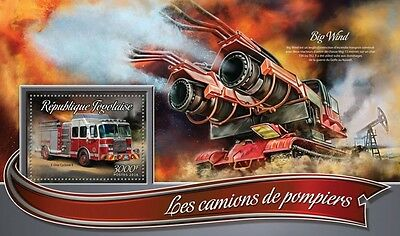 Z08 IMPERFORATED TG16305b TOGO 2016 Fire trucks MNH