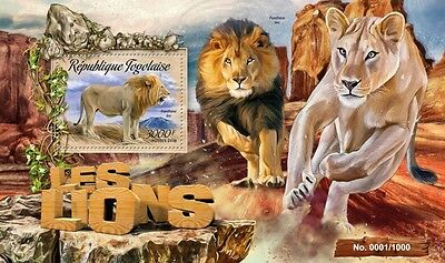 Z08 Imperforated TG16211b TOGO 2016 Lions MNH