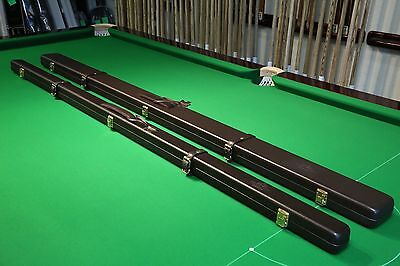 Peradon Dark Brown Real Leather Snooker/Pool Cue Cases Chesworth Cues Sheffield