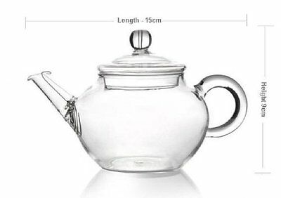 Small Glass Teapot Heat Resistant For tea 250ml