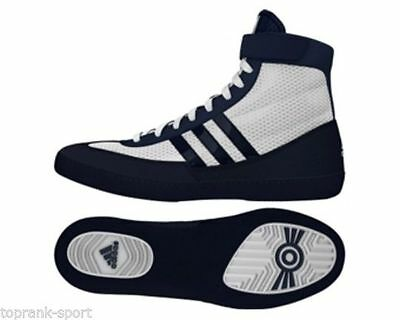 Adidas Wrestling Combat Speed 4 White Navy Boots Shoes Adults - AQ3322