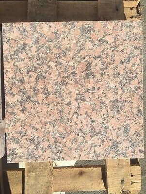 Natural Stone Granite Tile - Maple Red 12''x12''x3/4'' (Flamed)