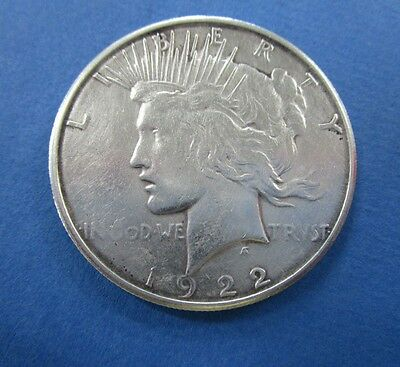 1922  S   USA Silver Peace  Dollar Coin