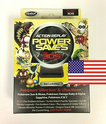 POWERSAVES for 3DS (2DS & 3DSXL) Perfect for Pokemon Sun & Moon (NTSC US)