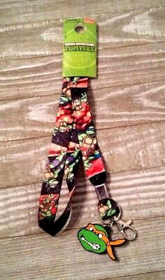 Nickelodeon Teenage Mutant Ninja Turtles Lanyard Key Chain New