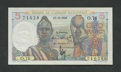 FRENCH WEST AFRICA - 5 francs  1948  P36  Choice EF+  ( Banknotes )