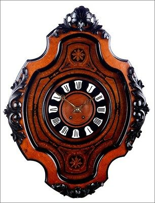 Antique Bull's-Eye Wall Clock in Great Condition. France, 1880