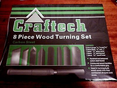 Craftech 8 Peice Wood Turning Set Carbon Steel Brand New In Box