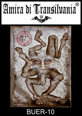 BUER demon seal Dictionnaire infernal Collin de Plancy Infernal dictionary paint