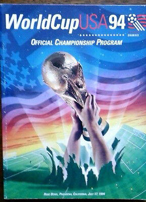 Brazil V Italy 17/7/1994  Official World Cup Final Programme