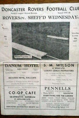 Doncaster V Sheffield Wednesday 4/10/1947