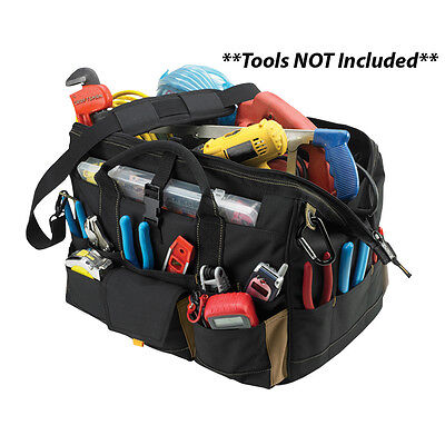 "CLC Work Gear 1535 18"" Tool Bag w/ Top-Side Plastic Parts Tray"