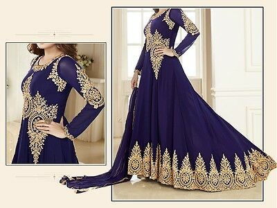 "Indian Bollywood Anarkali Dress For Wedding Party EID Fully Stitched 42"" XL"
