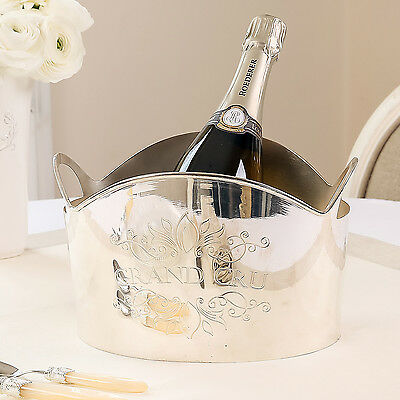 Grand Cru Silver Plated Luxury Champagne Cooler Bucket by Dibor