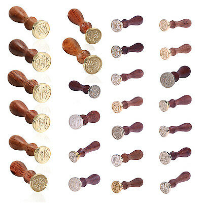 Sealing Wax Classic Initial Wax Seal Stamp Alphabet Retro Wood (Letter L) E1W5