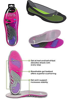 1 Pair AirPlus for her Amazing Active Gel Full-Cushion Insoles Women's 5 - 11