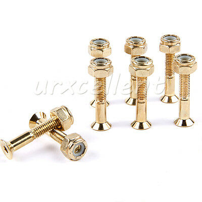8Pcs 29mm Skateboard Deck Mounting Hexagon Hardware Truck Screws Carbon Steel