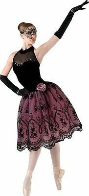 New! Costume Gallery Victorian Romance Adult Small Ballet Costume Pink Black