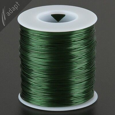 Magnet Wire, Enameled Copper, Green, 22 AWG (gauge), 155C, ~1 lb, 500 ft