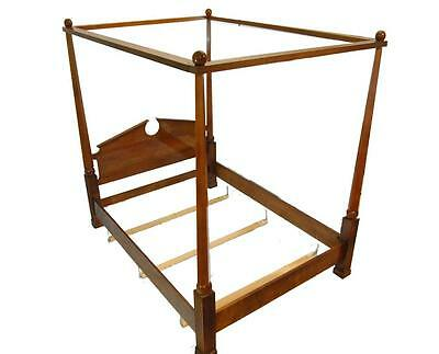 Federal Style Cherry Queen-Size Canopy Bed Frame by Henredon